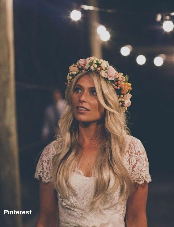Penteado com grinalda de flores9 - Penteados com grinaldas de flores