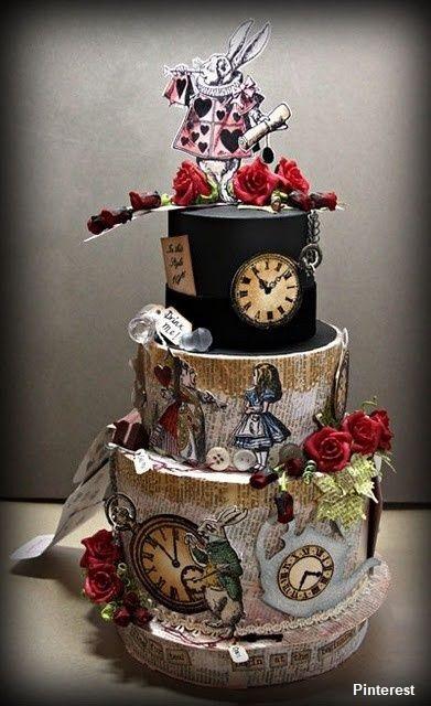 Tema Alice no País das Maravilhas1 - Bolo de Casamento Temático - Inspirações