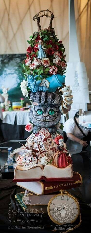 Tema Alice no País das Maravilhas2 - Bolo de Casamento Temático - Inspirações