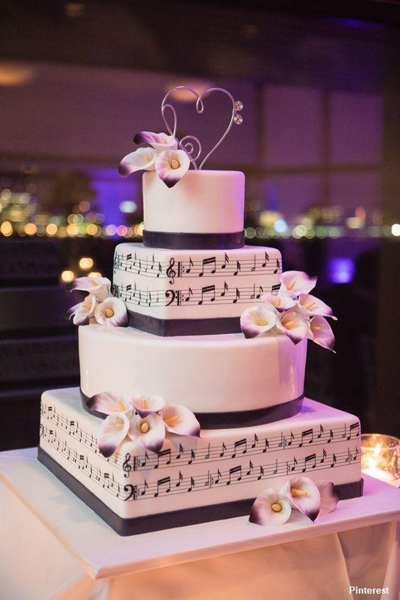 Tema Música - Bolo de Casamento Temático - Inspirações