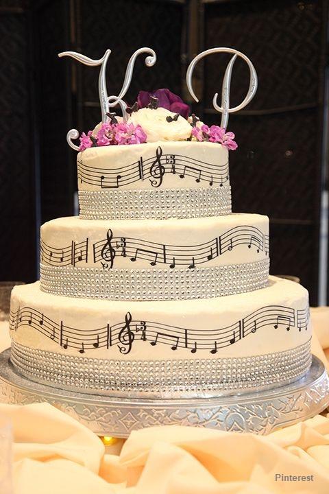 Tema Música1 - Bolo de Casamento Temático - Inspirações