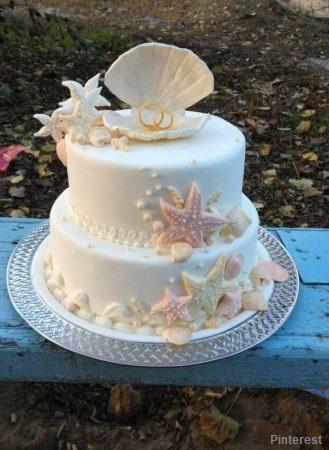 Tema PraiaMar4 - Bolo de Casamento Temático - Inspirações