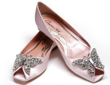 arunaseth4 - Calçado baixo e raso para noivas