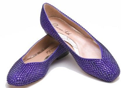 arunaseth5 - Calçado baixo e raso para noivas