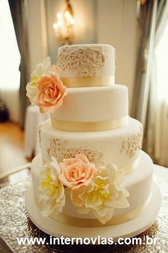bolo22 1 - Bolo de Casamento Clássico - Inspirações