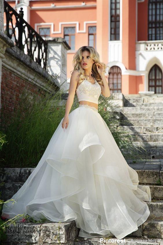 vestido20 - Vestidos de noiva top crop