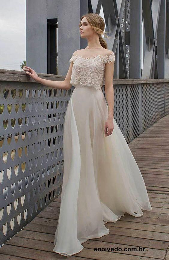 vestido4 - Vestidos de noiva top crop