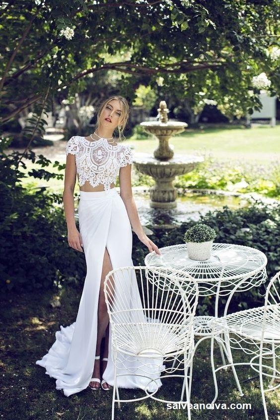 vestido7 - Vestidos de noiva top crop