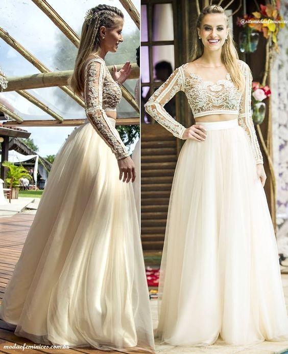 vestido9 - Vestidos de noiva top crop