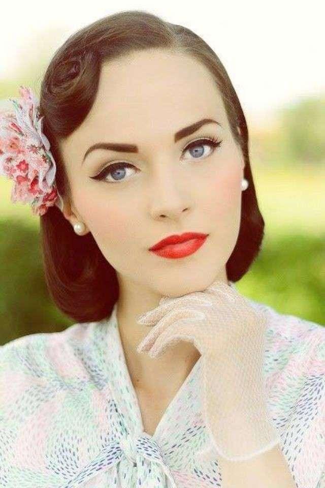 maquillaje para novias anos 50 1 - Maquilhagem - Inspirações via Pinterest