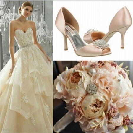 Mori Lee dress & Madgley Mischka shoes
