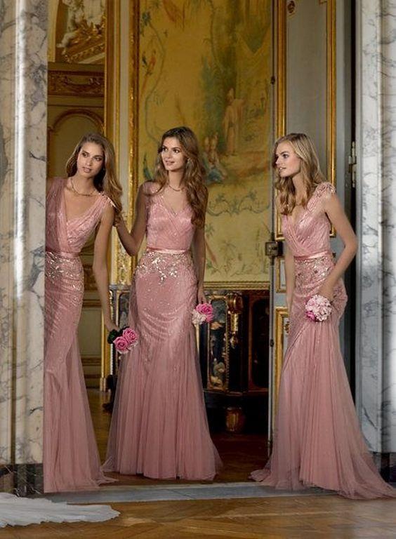Pinterest1 - Ideias de decoração em rosa velho para o seu casamento romântico