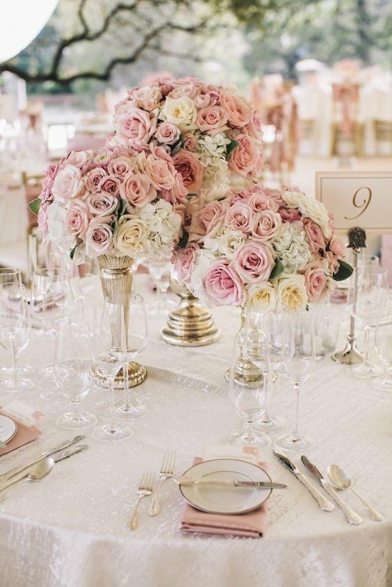SMS Photography - Ideias de decoração em rosa velho para o seu casamento romântico