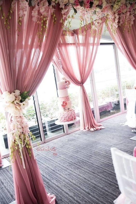 karaspartyideas - Ideias de decoração em rosa velho para o seu casamento romântico