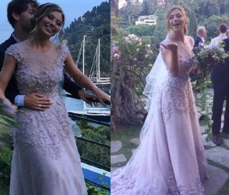 Alyson Michalka vestida de noiva