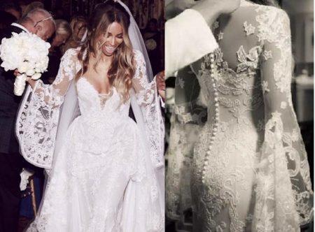 Ciara vestida de noiva