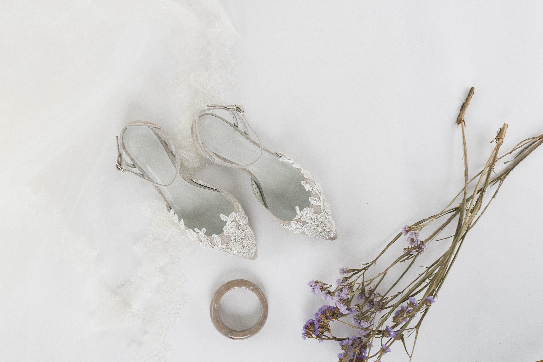 Honeymoon renda - Sapatos de noiva personalizados