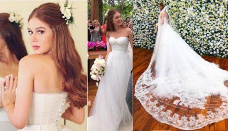 Marina Ruy Barbosa vestida de noiva