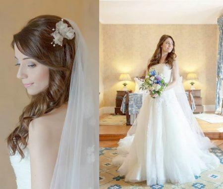Sofia Escobar vestida de noiva