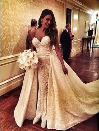 Sofia Vergara vestida de noiva