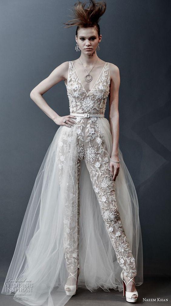 CALÇAS Naeem Khan - Tendências para vestidos de noiva em 2019