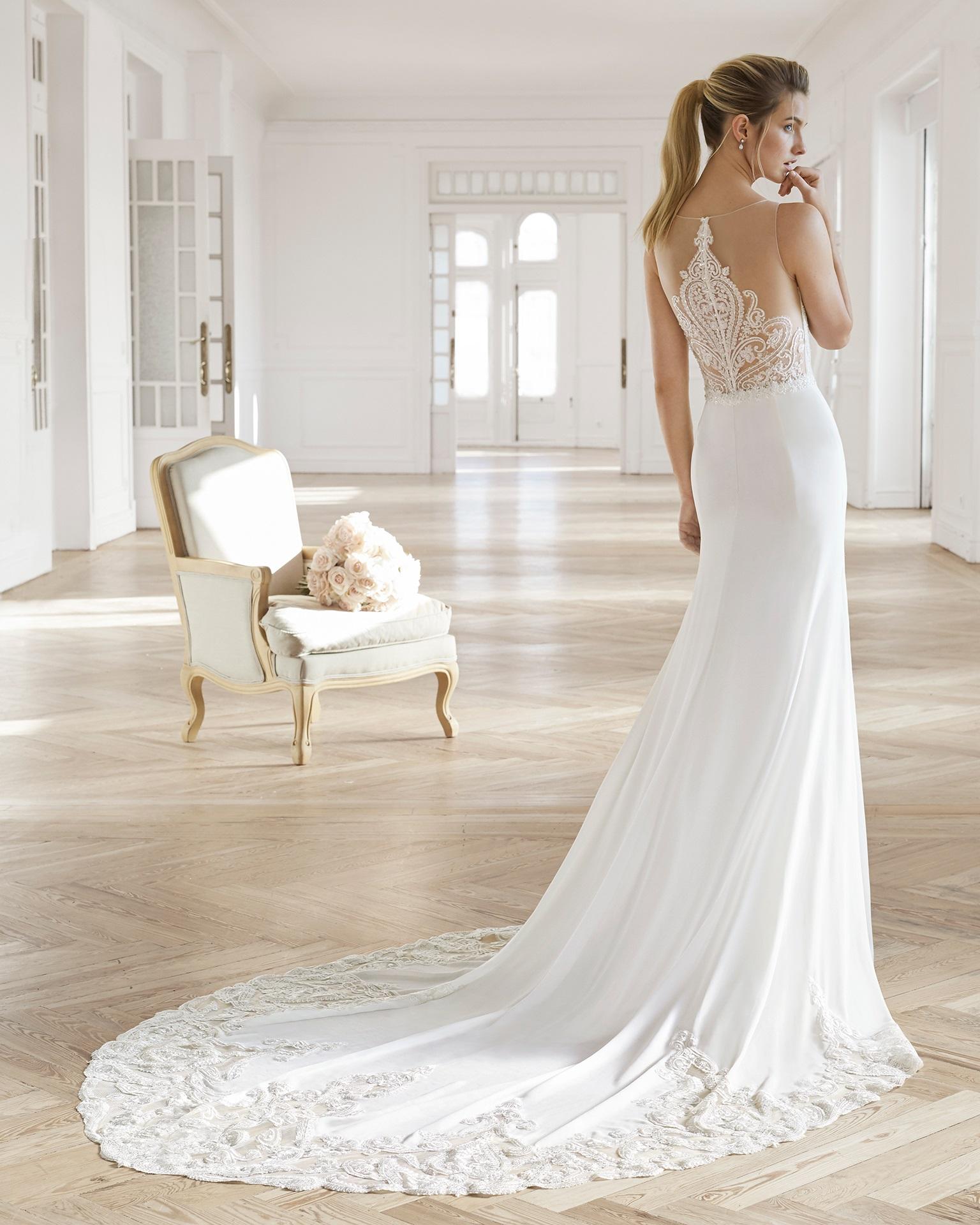 EFEITO TATUAGEM Aire Barcelona - Tendências para vestidos de noiva em 2019