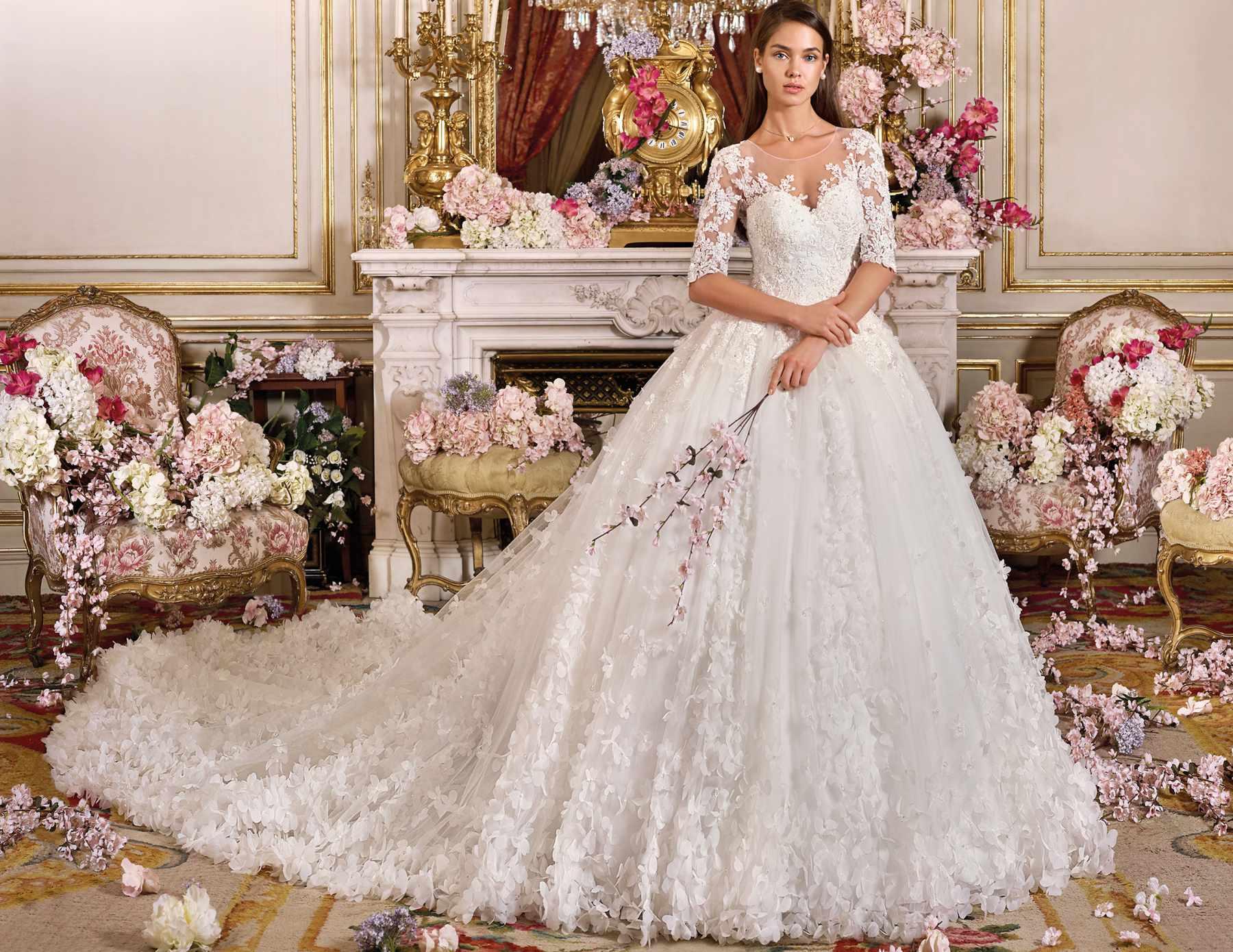 ESTILO-FLORAL-Demetrios-1 Tendências para vestidos de noiva em 2019