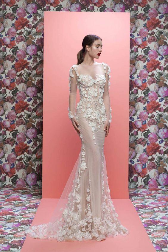 ESTILO FLORAL GALIA LAHAV - Tendências para vestidos de noiva em 2019