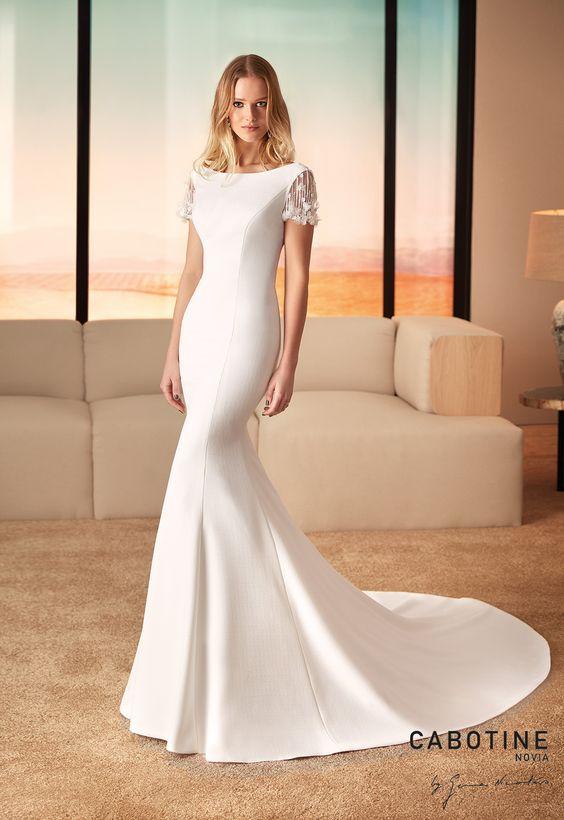 ESTILO MINIMALISTA Cabotine modelo Pasadena - Tendências para vestidos de noiva em 2019