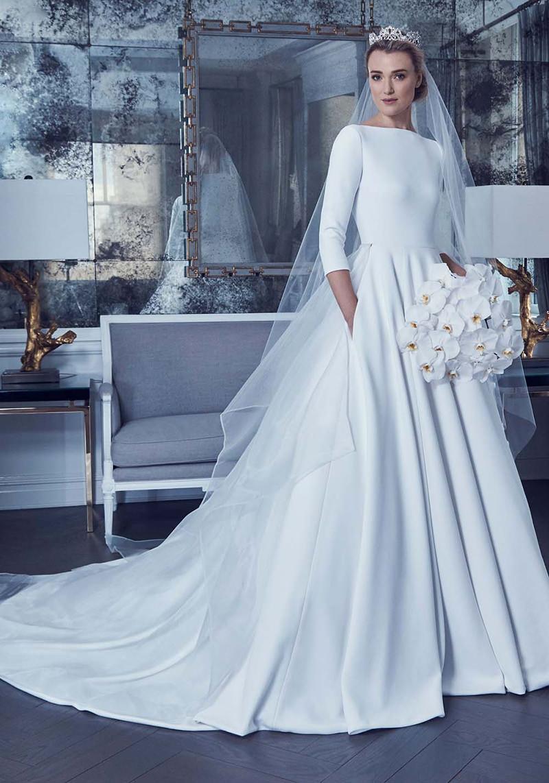 ESTILO MINIMALISTA Romona Keveza - Tendências para vestidos de noiva em 2019