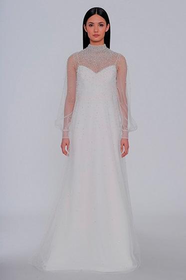GOLA ALTA Allison Webb - Tendências para vestidos de noiva em 2019