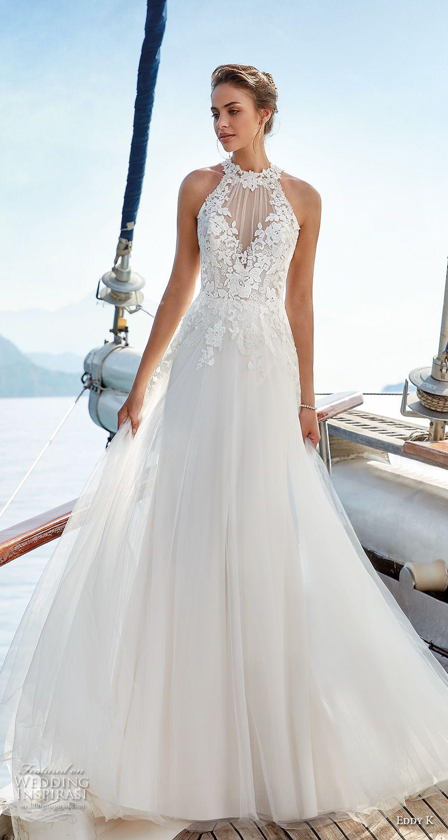 GOLA ALTA EDDY K - Tendências para vestidos de noiva em 2019