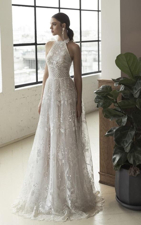 GOLA ALTA Julie Vino - Tendências para vestidos de noiva em 2019