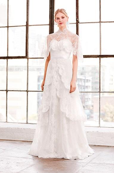 GOLA ALTA Tadashi Shoji - Tendências para vestidos de noiva em 2019