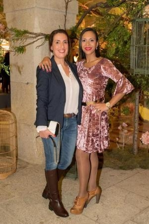 Sofia Tregeira e blogger Iolanda Grenha - Foto Christian Seabra