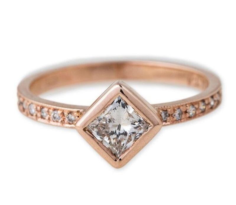 NOIVA VINTAGE Jacquie Aiche Pave Princess - Dicas para escolher o anel de noivado de acordo com a personalidade da noiva
