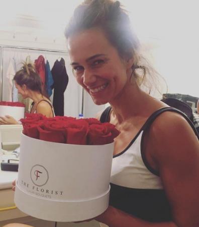 Claudia Vieira recebeu um bouquet The Florist