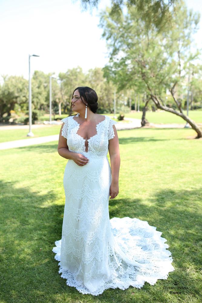 14 Brinkley Lynette Wedding Dress by Maggie Sottero - Vestidos de Noiva Boho plus size