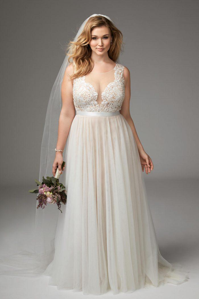 15Style W415 by Allure Bridals - Vestidos de Noiva Boho plus size