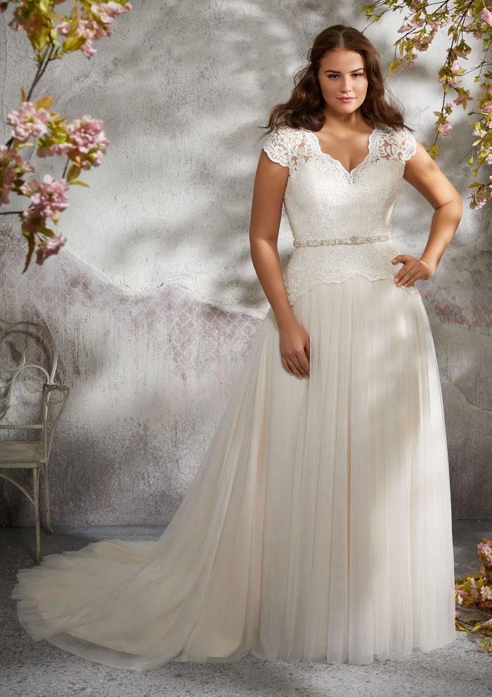 17Style 6391 by Stella York - Vestidos de Noiva Boho plus size