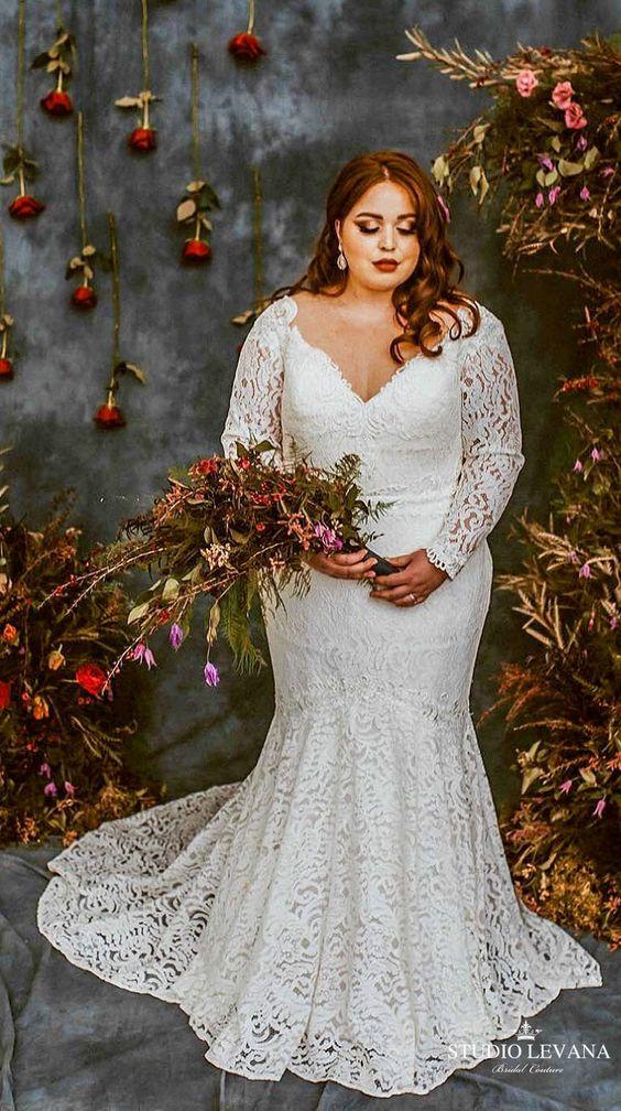 5Foto via Pinterest - Vestidos de Noiva Boho plus size
