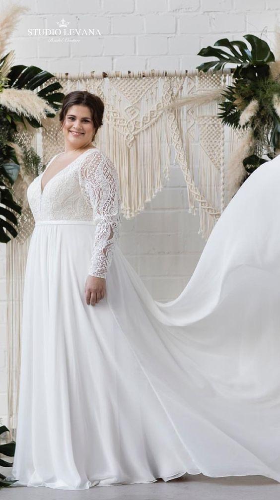 6Foto via Pinterest - Vestidos de Noiva Boho plus size