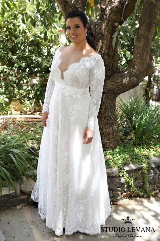 7Foto via Pinterest - Vestidos de Noiva Boho plus size
