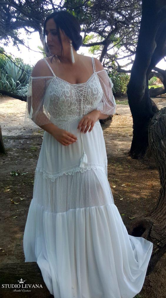 9Foto via Pinterest - Vestidos de Noiva Boho plus size