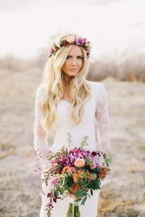 Foto via Pinterest3 1 - Inspirações de penteados para noiva boho