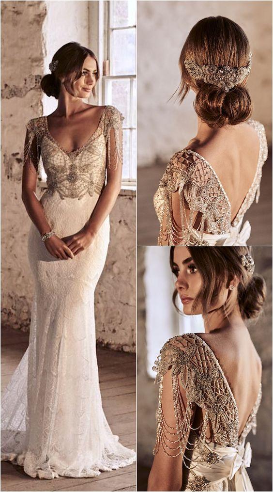 Anna Campbell - Vestidos de noiva românticos: Inspirações